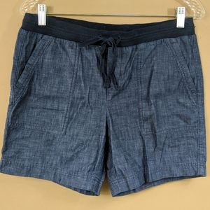 Talbots Petites Chambray Pull On Shorts Sz 6P